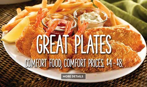 Great Plates - Comfort Food, Comfort Prices. $4-$8